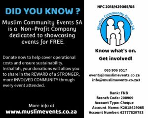 Donate Now! – Muslim Community Events South Africa
